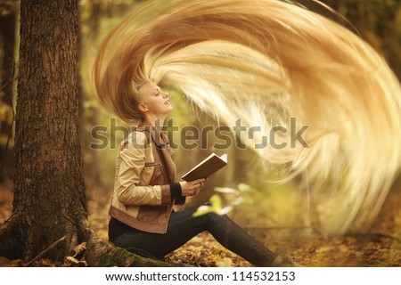 Rapunzel with very long blond hair