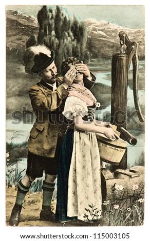 rare antique german post card...