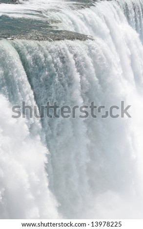 Rare close up detail of Niagara Falls (American side) shot from the Prospect Point, fast shutter speed to freeze the motion