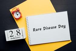 Rare Disease Day of winter month calendar february.