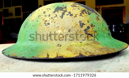 Rare WW2 British Camouflage Helmet
