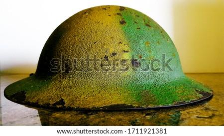 Rare WW2 Camouflage British Helmet