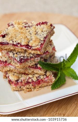 Raspberry bars - stock photo