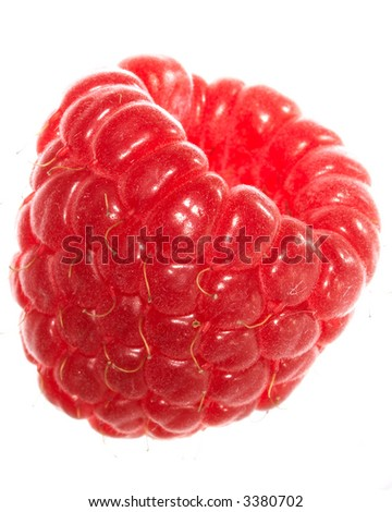 raspberry. Isolated over white background