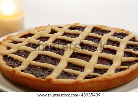 Raspberry Jam Tart, Italian Homemade Crostata Stock Photo 43935409 ...