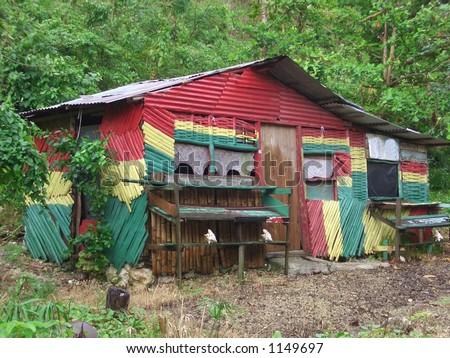 RASTA HOUSE. Rastafarian House, Port Antonio Jamaica.