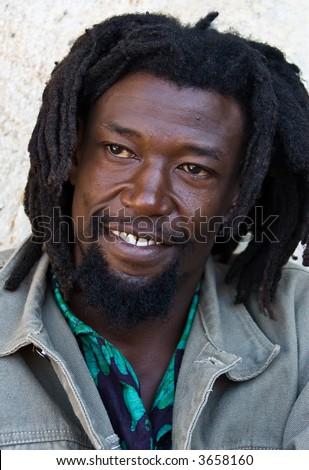 Chinese Rastafarian Rastafarian man portrait
