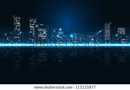 raster abstract cityscape, vector version available