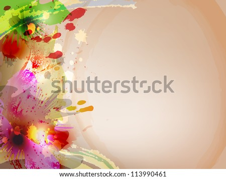raster abstract watercolor flowerlike image, vector version available
