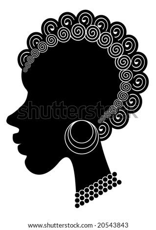 stock photo RASTER african woman tattoo