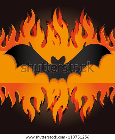vector images illustrations and cliparts raster bat flames fire