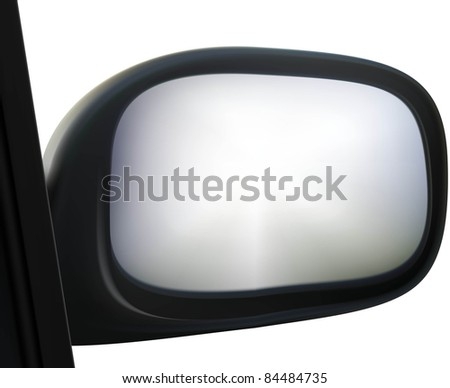 raster car side mirror on white background, vector version available