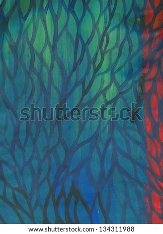 raster color background with bright and dark acrylic brash stroke. Abstract hand drawn paint image. raster illustration in red and yellow colors. - Shutterstock ID 134311988