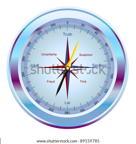 raster - compass, showing the way to the truth (vector version is available in my portfolio)
