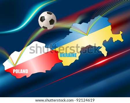 raster conceptual illustration of soccer championship Euro 2012, vector version available
