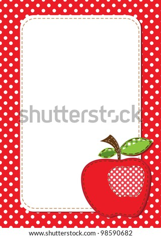 raster fabric apple background