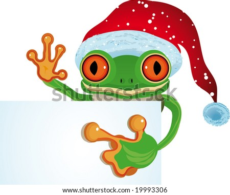 Raster Frog as Santa (See vector version  Also In My Portfolio)