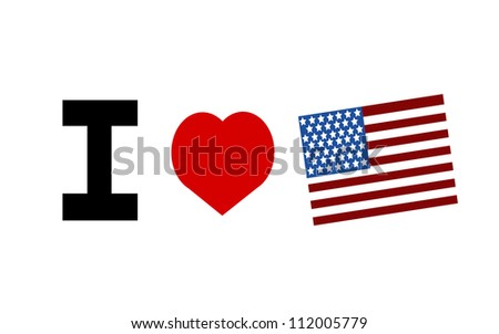 raster I love the united states of america graphic design