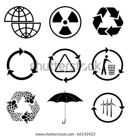 Raster icons of ecology