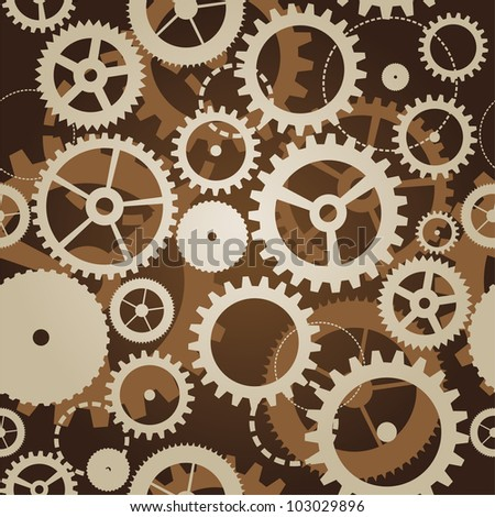 raster illustration- abstract background with gears