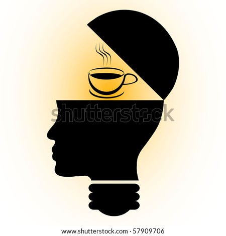 raster illustration coffee in mind
