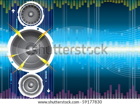 Raster illustration of audio speaker wave. (Vector version available:14753233)