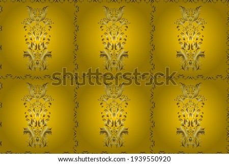 Raster illustration. Snowflake ornamental pattern. Flat design with abstract snowflakes isolated on background. Snowflakes pattern. Snowflakes background.