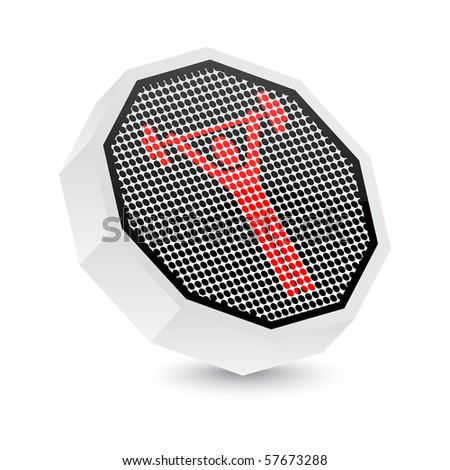 raster illustration sport button