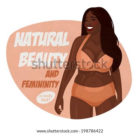 raster lush figure black girl in underwear