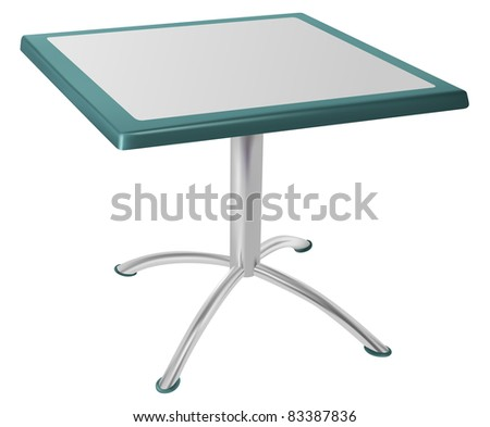 raster metallic table isolated on white background, vector version available