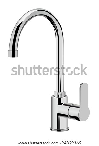 raster realistic kitchen tap on white background, vector version available