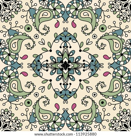 raster seamless floral pattern background