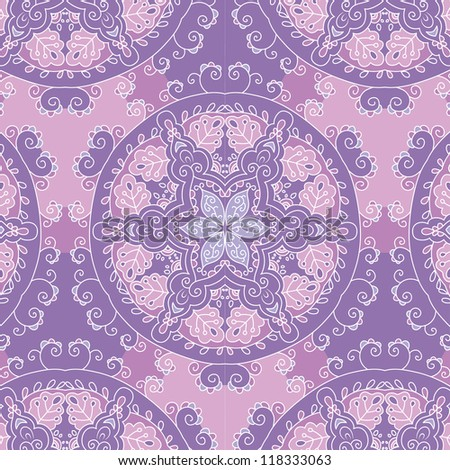 raster seamless hand drawn floral pattern background - stock photo