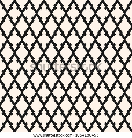 Raster seamless pattern with rhombuses, lozenges, diagonal lattice. Simple monochrome abstract geometric texture. Traditional ornamental background, repeat tiles. Design for decor, fabric, prints, web