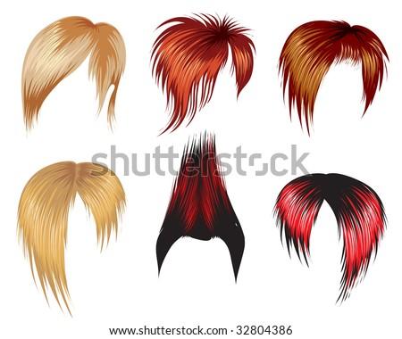 RASTER Set of super trendy hair style samples for man