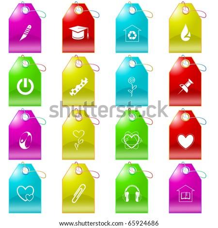 Raster set of tags