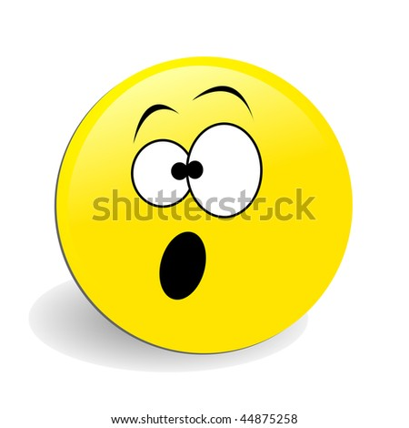 stock photo : raster surprised smiley face