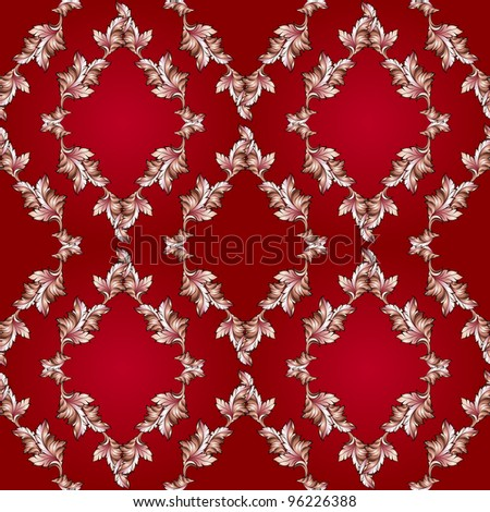 Raster version. Abstract illustration of Red Autumn leaves background for seasonal design. - stock photo