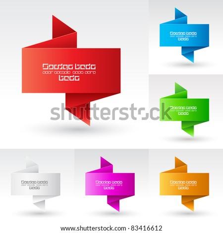 Raster version. Banners set. Illustration on white background for design