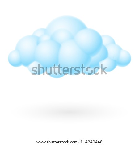Raster version. Bubble Cloud icon. Illustration on white background for design