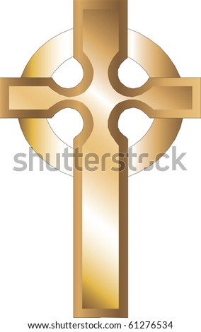 Raster version Church Icons, Illustration of Gold Roman Cross.
