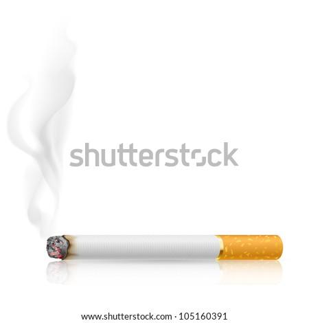 Raster version. Cigarette burns. Illustration on white background.