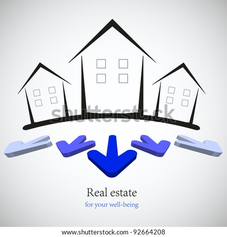 raster version. concept real estate for your business. illustration. Best choice