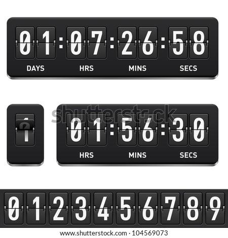 Raster version. Countdown timer. Illustration on white background for design