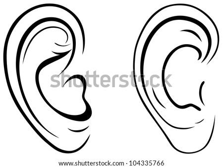 Royalty Free Drawing Human Ear 103090304 Stock Photo Avopix Com