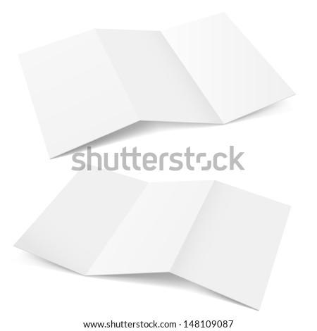 Raster version. Folded Paper. Illustration on white background for creative design.