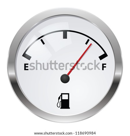 Raster version. Fuel indicator. Illustration on white background for design