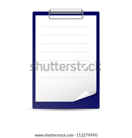 Raster version. Icon for notes, paper for notes on the dark basis - stock photo