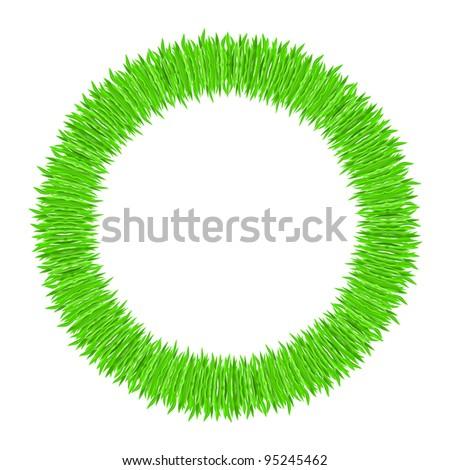 Raster version.  illustration of grass frame. Green ring