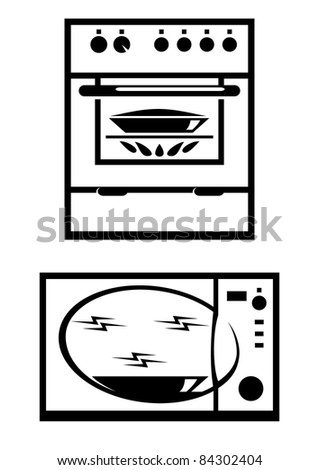 Raster version. Kitchen appliances. Illustration on white background